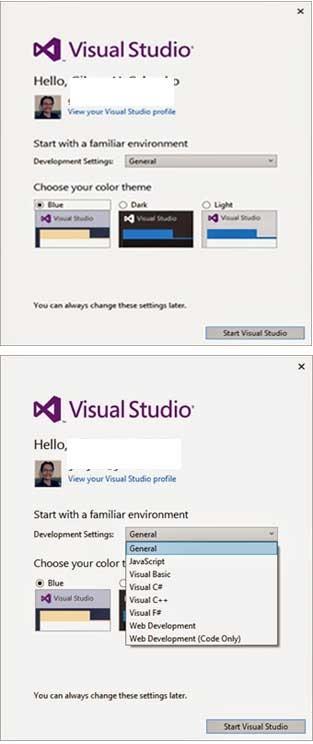 Development Settings dan color theme