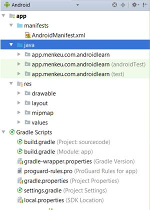 struktur program android