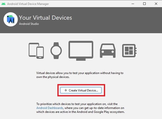 Create Virtual Device